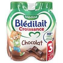 BLEDILAIT Bledilait croissance 3 chocolat 4x50cl de 1 a 3 ans