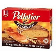 PELLETIER LU Pain grillé au blé complet  x24