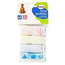 CORA Slips jetables x4 taille 38/42