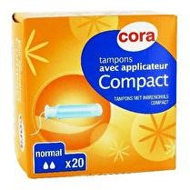 CORA Tampons avec applicateur compact normal
