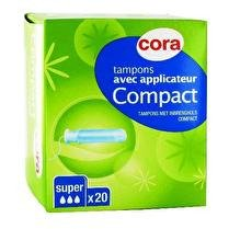 CORA Tampons avec applicateur compact super