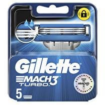 GILLETTE Mach3 turbo lames