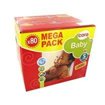 CORA Couches Baby T5 11-25kg x80 mega pack