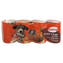 CORA Terrines spéciales petit chien veau/poulet/légumes