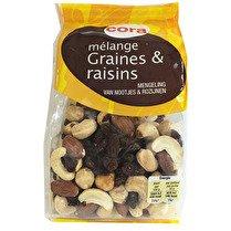 CORA Mélange graines et raisins