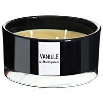 DEVINEAU Contenant noir 3 mèches vanille de Madagascar