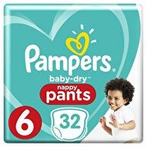 PAMPERS Culottes T6 +16kg x32