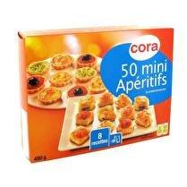 CORA Mini feuilletés apéritifs x50