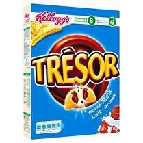 KELLOGG'S Trésor - Céréales fourrés chocolat au lait
