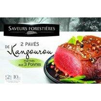 SAVEURS FORESTIÈRES Pavés de kangourou marinés saveur vanille et poivre x 2