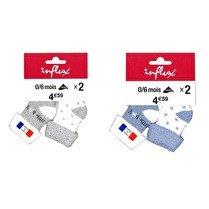 INFLUX Bottons naissance Bébé Little Boy Etoile Blanc/ Bleu 0/6 mois