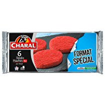 CHARAL Steak haché 15% MG   6 x 100g  - Longue conservation