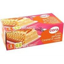 CORA Feuilleté glacé caramel vanille
