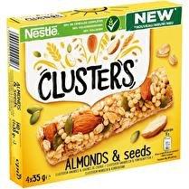 NÉSTLÉ Clusters - Barres de céréales aux amandes x4