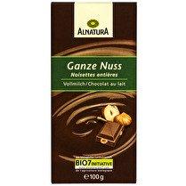 ALNATURA Chocolat au lait noisettes entières BIO