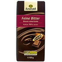 ALNATURA Chocolat noir douce amertume, 70% cacao BIO