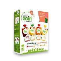 GOOD GOÛT Variety fruits 4x120g + cuillère