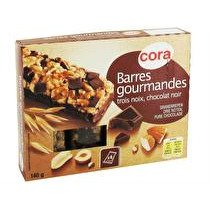 CORA Barres de céréales au chocolat x4