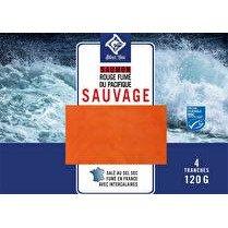 SILVER LINE Saumon rouge fumé du Pacifique Sauvage Alaska 4 tranches