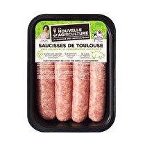 LA NOUVELLE AGRICULTURE Saucisse de Toulouse Sans colorant, sans conservateur - x 4 soit 500 g