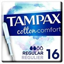 TAMPAX Pearl cotton confort regular