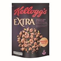 EXTRA KELLOGG'S EXTRA CHOCOLAT NOIR ET PISTACHES 450G