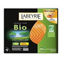 LABEYRIE Saumon fumé bio - x 5 tranches soit 145 g