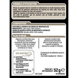 CORA Capsules espresso classico intensité 6  x10